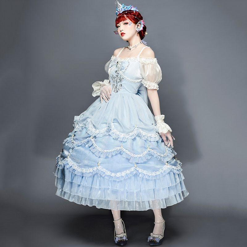 人魚姫 ワンピース チュールドレス 洋装 甘ロリ 衣装