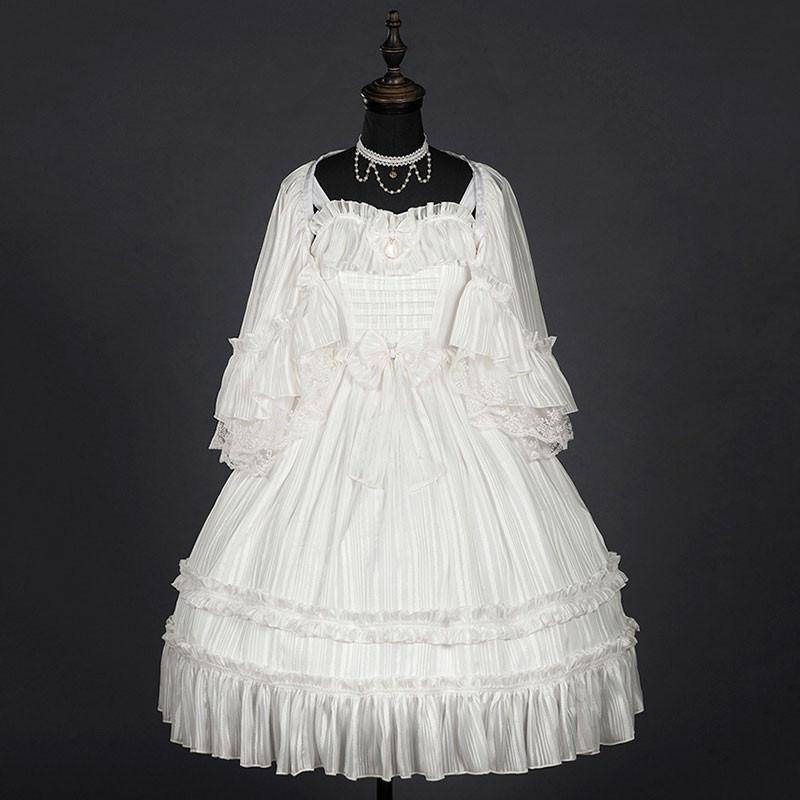 クラロリ ジャンパースカート 白色 ワンピース