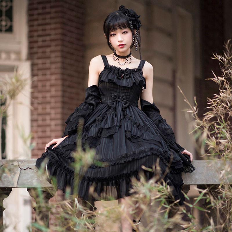 クラロリ ジャンパースカート 黒色 ワンピース