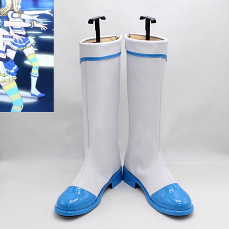 ラブライブ!サンシャイン!! jumping heart 全員海軍風 ブーツ コスプレ靴 オーダーサイズ可能