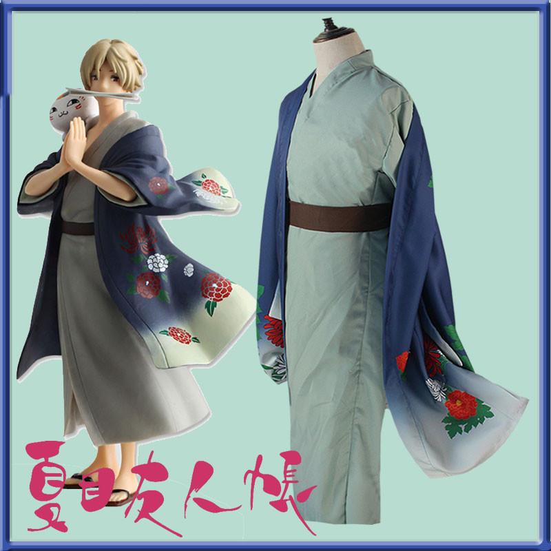 夏目友人帳 夏目 貴志 羽織+着物+帯揚げ 花柄 コスプレ衣装