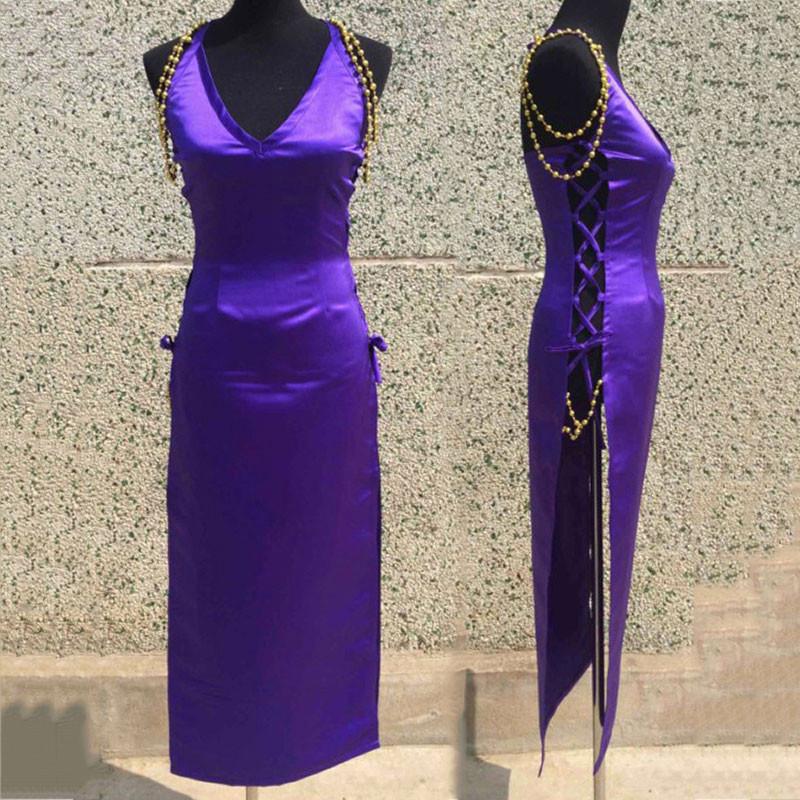 ワンピース ONE PIECE 奈美 なみ ゾウ ミンク族の衣装 礼服 紫色