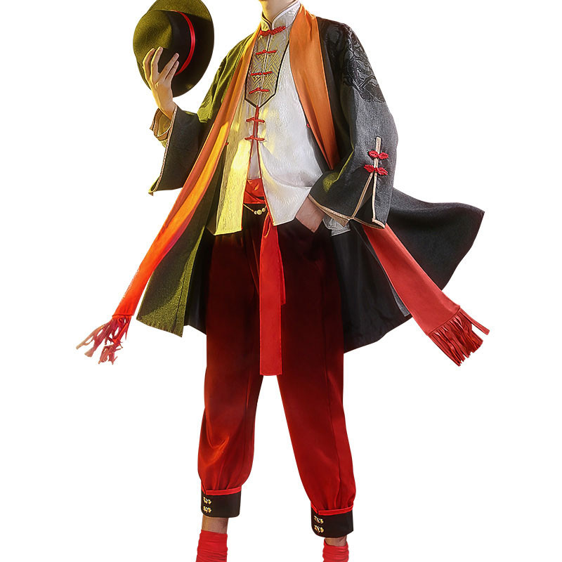 ONEPIECE ワンピース ルフィ 中国風 コスプレ衣装 紳士帽子付き