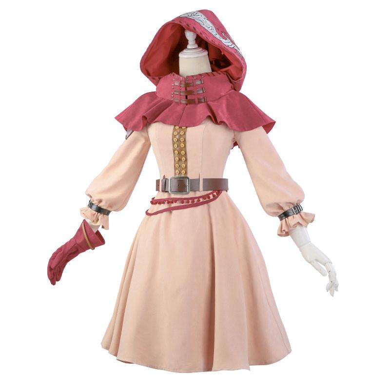 僕のヒーローアカデミア 麗日お茶子 コスプレ衣装 薄いピンク 復古スカート
