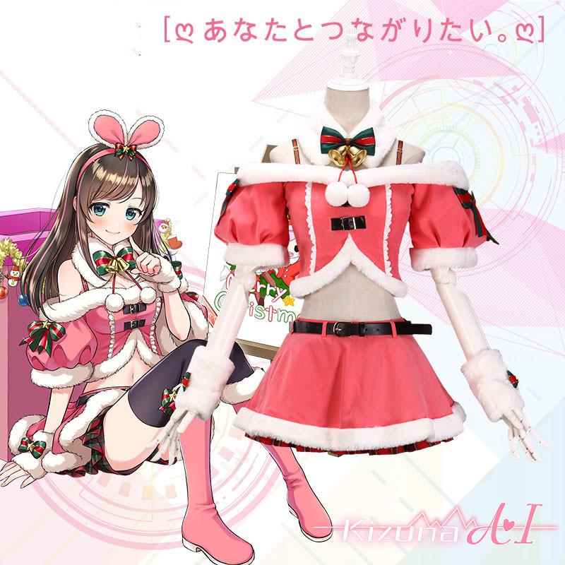Kizuna AI キズナアイ A.I.Channel セクシー クリスマススカート