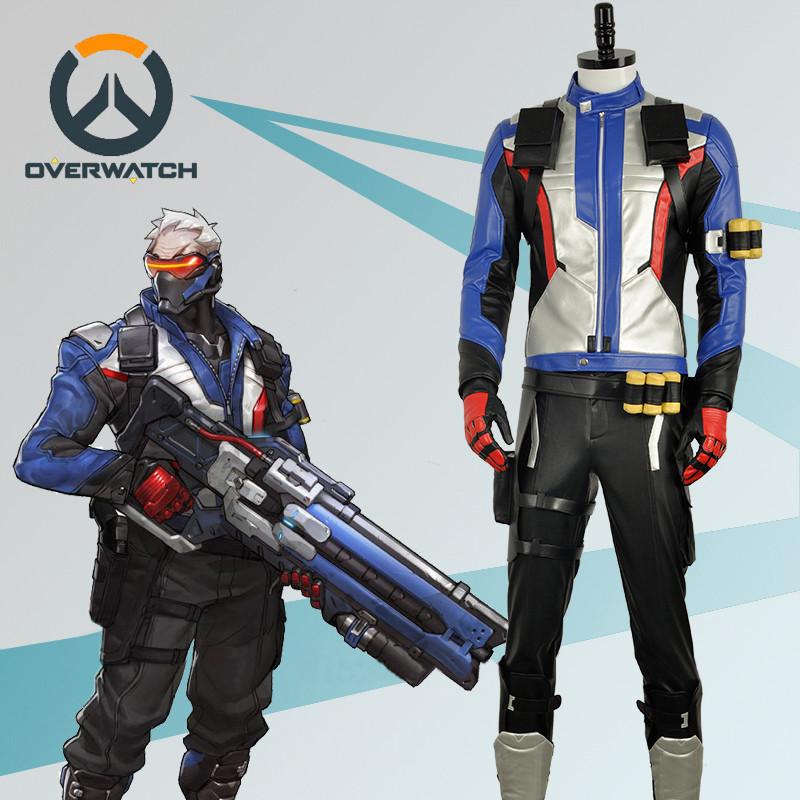 Overwatch オーバーウォッチ  OW ソルジャー76 兵士服 コスプレ衣装