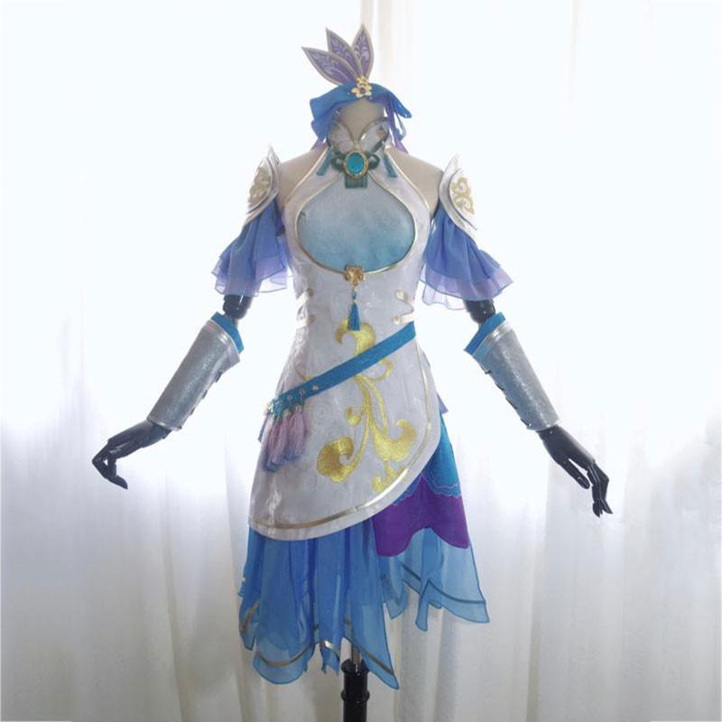 真?三國無双8 王元姬 コスプレ衣装 スカート 青と紫 オーダーメイド