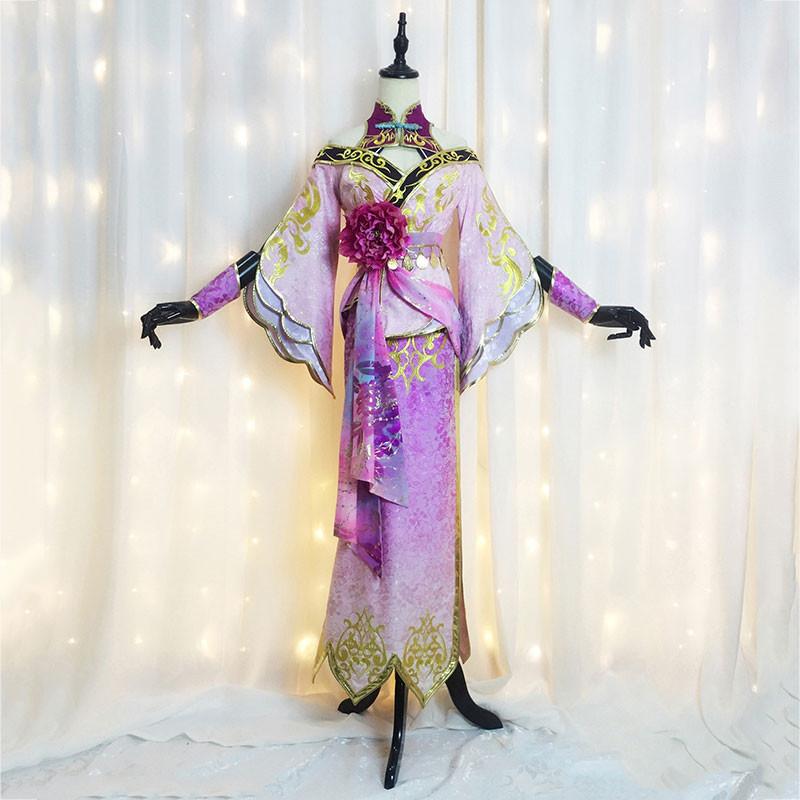 真?三國無双8 貂蝉 コスプレ衣装 スカート 牡丹色 オーダーメイド