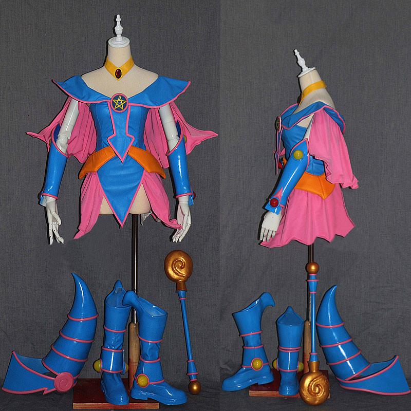 遊☆戯☆王 ブラック·マジシャン·ガール BMG セット ブルー ピンク コスプレ衣装