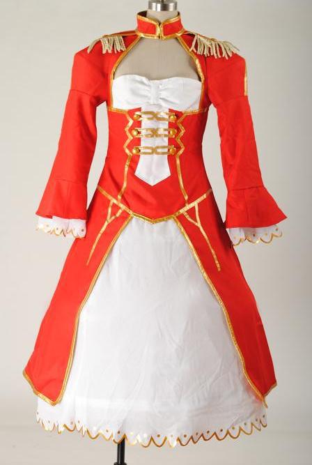 Fate/EXTRA /Stay Night セイバー Saber 赤ドレス コスプレ衣装