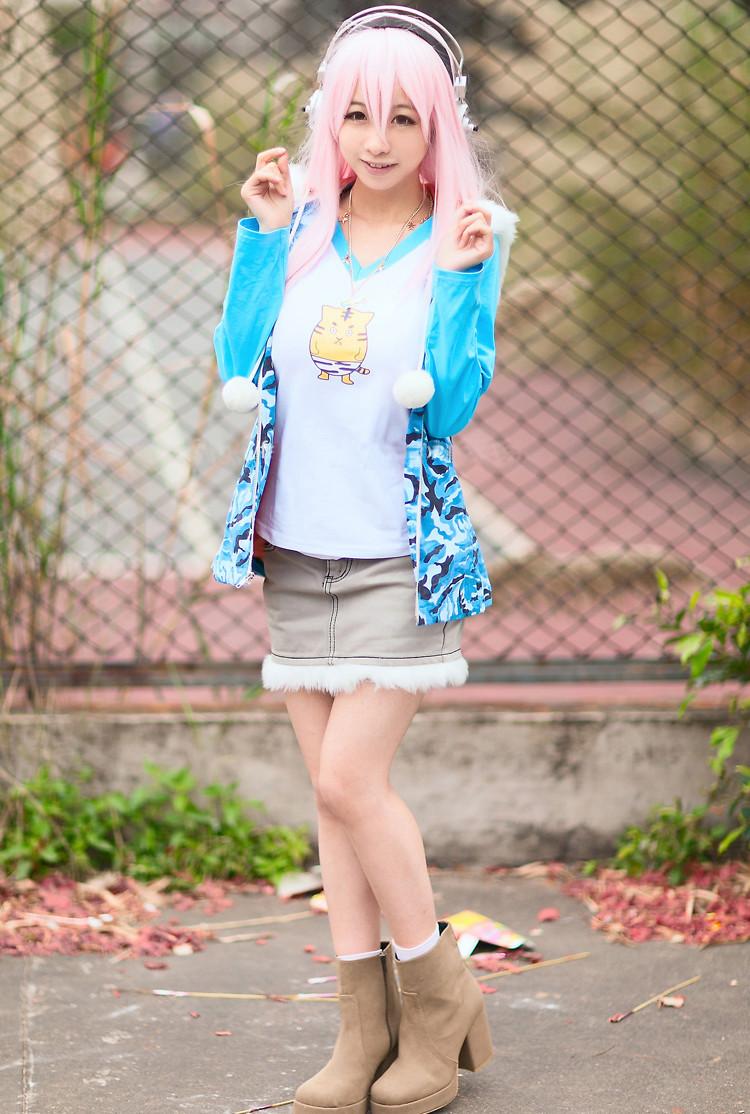 Nitro Super Sonic すーぱーそに子 タイガーTシャツ コスプレ衣装