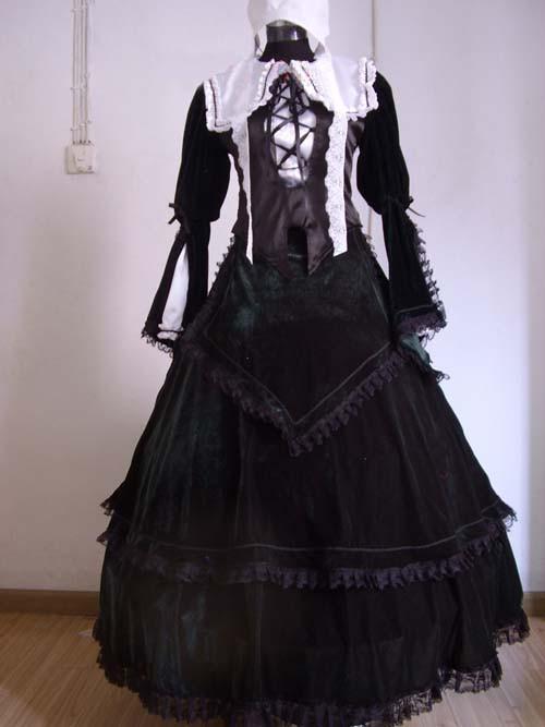 ローゼンメイデン 翠星石コスプレ衣装(パニエ付き)