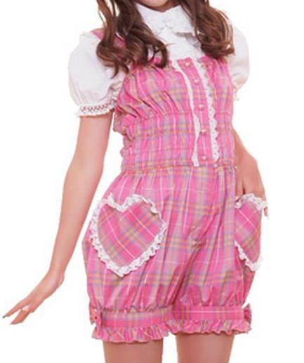 マルチーヌAチェック オールインワン  ゴスロリ ロリータ パンク コスプレ コスチューム メイド 衣装